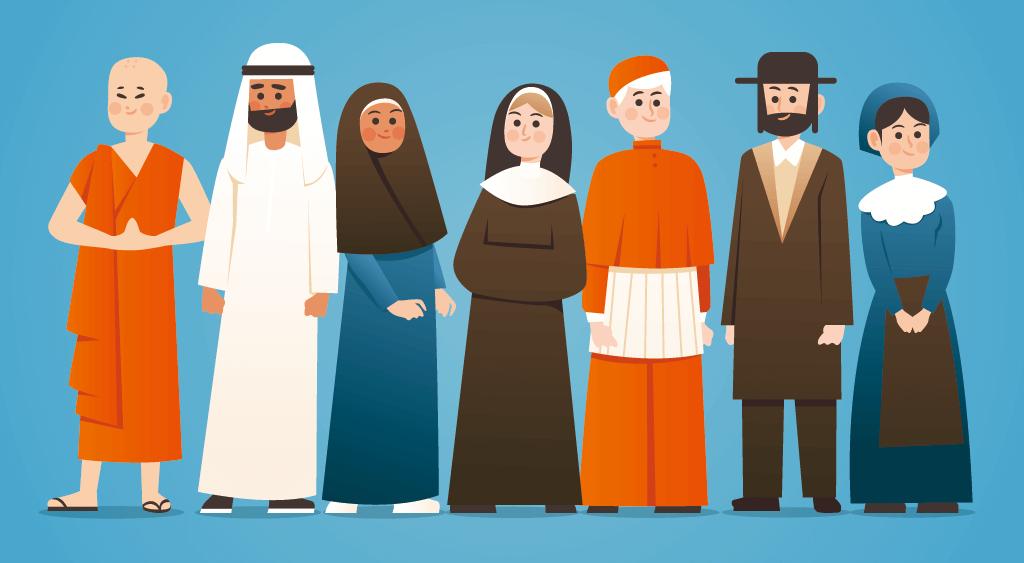 世界の宗教イラスト